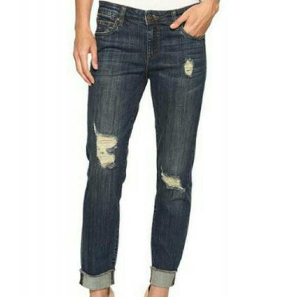 Kut from the Kloth Denim - Kut from the Kloth Distressed Raw Cut Crop Jeans 2